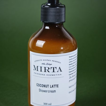 shower cream with coconut butter and coconut mil